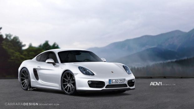 2013 Porsche Cayman on ADV.1s by CarraraDesign