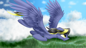 Cloak - Soaring (Commission) by AurelleahFreefeather
