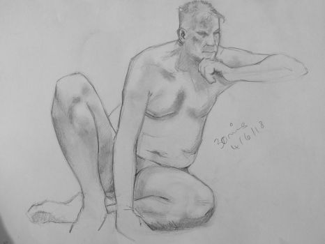 June 4th - Life Drawing, VII by freezingmoon