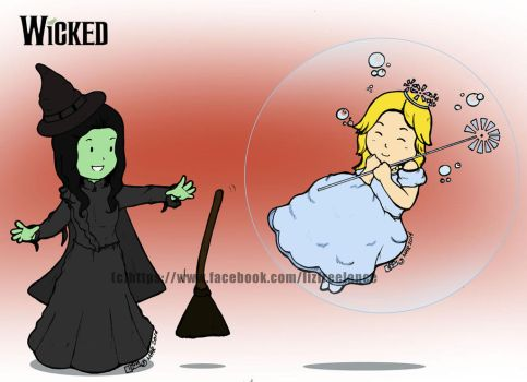 Elphie and Glinda by haidokun14