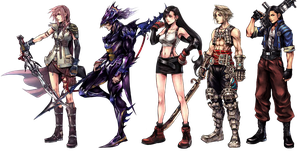 New Characters in Dissidia 012 by RoX-Ann