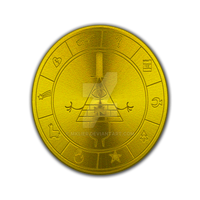 Gravity Falls - Pyramid Golden Coin by MKLier