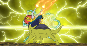 Triceratop Leader of the Electricity by Artapon