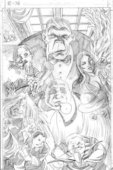 Addams Family - Pencils by IanJMiller