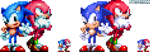 Sonic Mania - Sonic and Knuckles by Xyroneriz