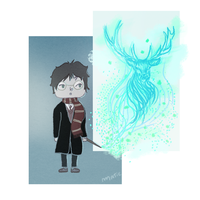 harry potter ~ patronus charm by HarajukuNoMatie