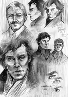 Sherlock sketches by Traktorova
