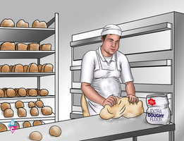 THE BAKERS DOUGH commission 2 of 5 by butterchuk