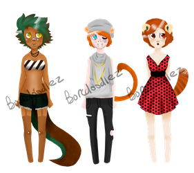 Anthro Adopts- FREE (CLOSED) by BoreDoodlez