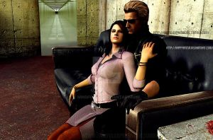 Wesker and Excella1 by MindForcet