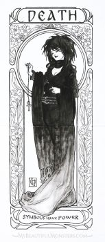 Art Nouveau Death of the Endless Commisson by MyBeautifulMonsters