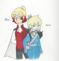Redraw: Allen and Marie by bluestarproduction