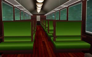 MMD Train Stage by amiamy111