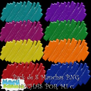 Pack de 8 Manchas PNG by MariiEditiions