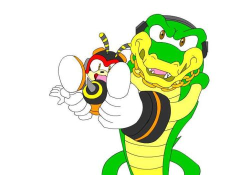 Vector using Charmy as weapon by bw4789