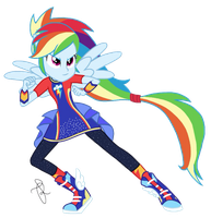 EQG Series - Rainbow Dash Friendship Power by ilaria122