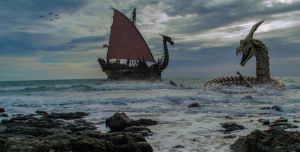 Sea Serpent.. by AledJonesDigitalArt