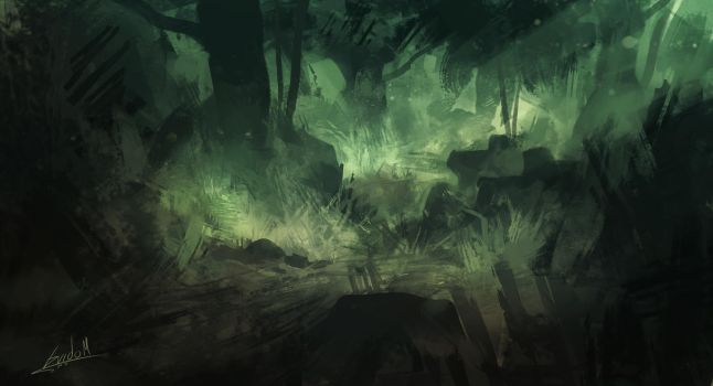 Forest sketch by Lolzdui