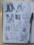 Boot Sketches by Hewison