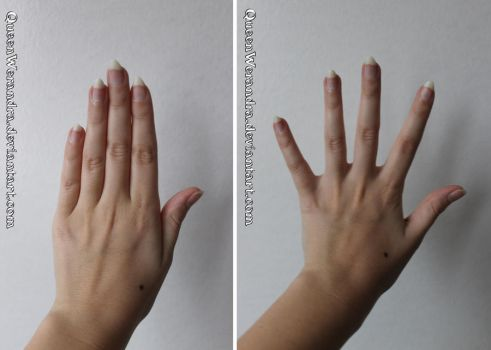 Fingers together and apart stock reference by QueenWerandra