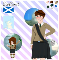 Scotland OC reference WIP by EyyGreenBean