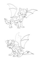 free Drawolf Cubs Lineart by Almairis