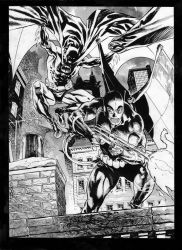 Batman and Firefly private commission. by StazJohnson