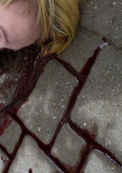 Blood on the sidewalk by eatmyselfalive