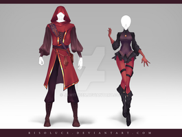 (CLOSED) Adoptable Outfit Auction 185 - 186 by JawitReen