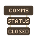Comms Closed Signs by Meadows-Resources