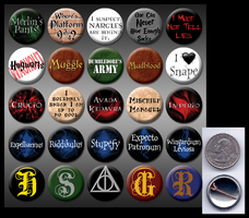 Harry Potter 1' buttons by eitanya
