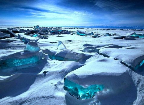 Turquoise Ice Northern Lake Baikal by YOKOKY