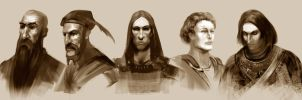 Moorcock Characters Sketches01 by ghostbow