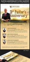 Pastor Anniversary Church Flyer Template: Harvest by Godserv