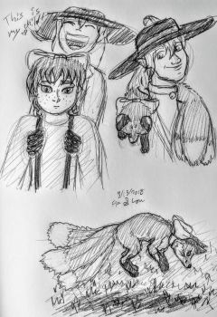 Fia and Lou sketches by SailorPhantom