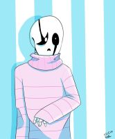 Gaster in the pink sweater by pokefighterlp