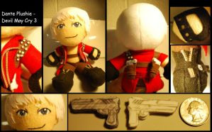 Dante Plushie - Devil May Cry3 by sizzing