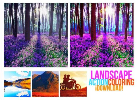Landscapes Photoshop Action by psdnactions