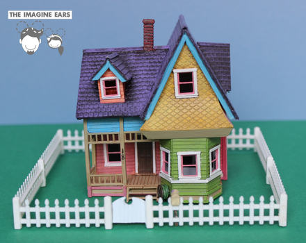 HO Scale Carl Fredricksen house from UP by TheImagineEars