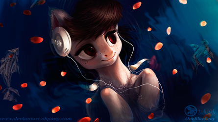 Octavia - bathing in sound - wallpaper (edited) by LuleMT