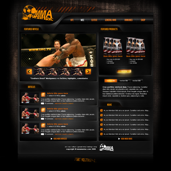 MMA website layout by Elvis57