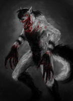 Laughing Jeff werewolf by cinemamind