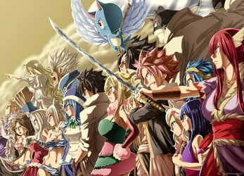Colored 283_Fairy Tail Team by Enara123
