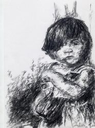 Girl in charcoal by Natalie-CaLoie