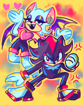 Rouge and Shadow by GhostlyStatic