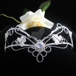 Fantasy Sterling Headpiece by camias