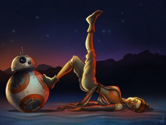 BB8 becomes Rey's Swissball by Area-44