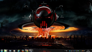 Nuclear Explosion Alien Rogers1967 Rainmeter by Rogers1967