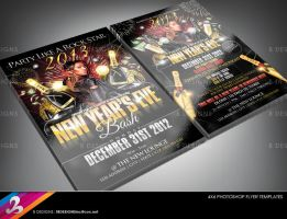 New Year's Eve Party Flyer Templates 2 by AnotherBcreation