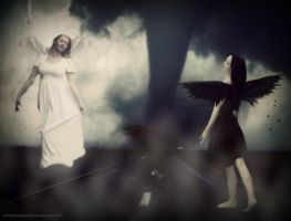 The Raven and the Dove on the Road by NataliaAlejandra